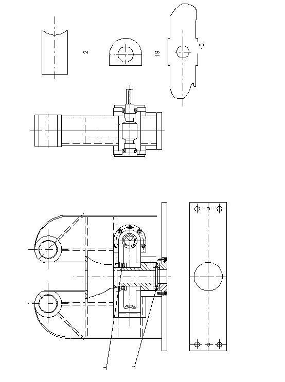 Bracket Assembly Graphics of three roller roll bending machine